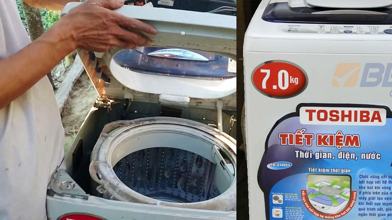 máy giặt rỉ nước
